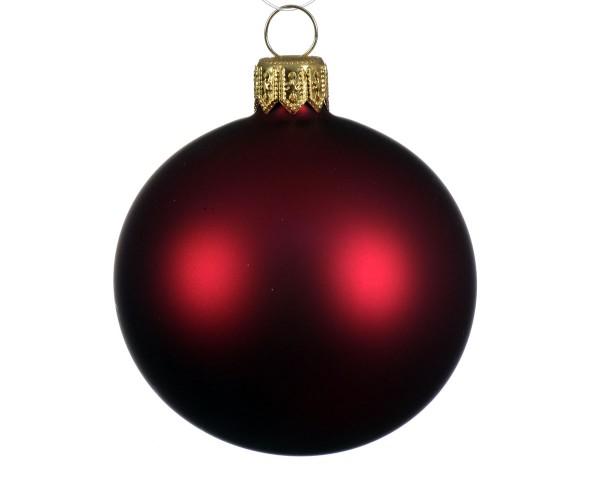 Weihnachten Kae uni Kugel matt 6er-Set, dia7cm ochsenblut
