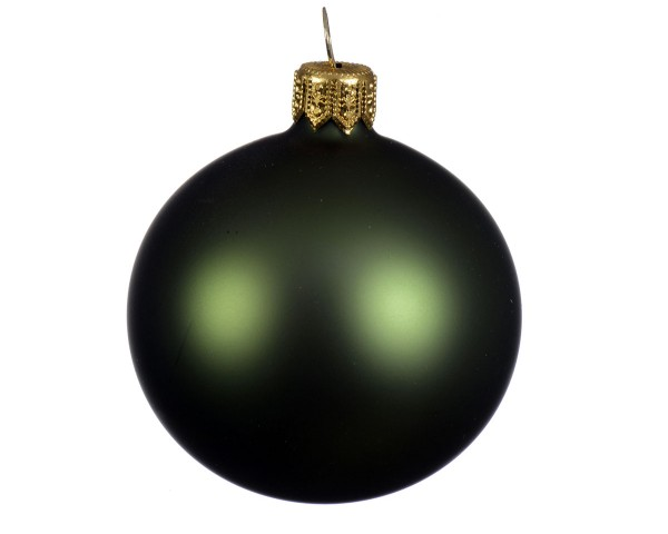 Weihnachten Kae uni Kugel matt 6er-Set, dia7cm Piniengrün