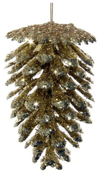 ShiShi GLITZERZAPFEN, gold 11cm