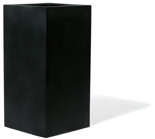 Kirschke Pflanzgefäß ArtLine Black - Byron 44x44 H95 cm