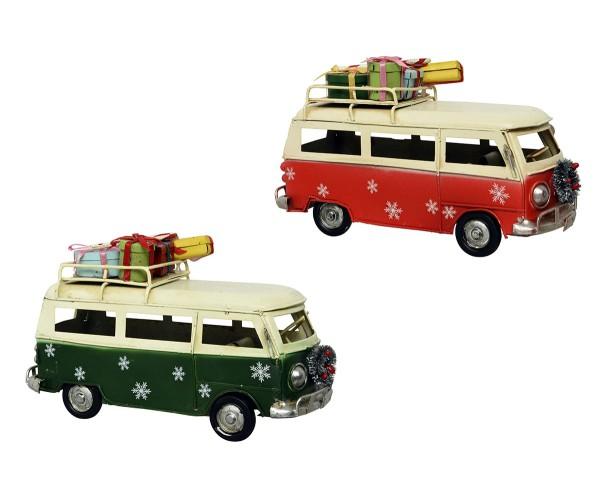 Weihnachten Kae Eisenbus mit Geschenken, assorted 7.5x17x9.8cm assorted