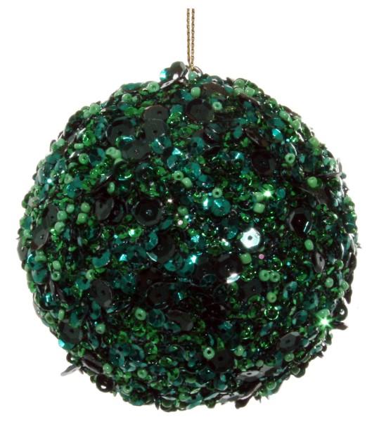 ShiShi GLITTERKUGEL, dunkelgrün Perlen-Pailletten 8cm