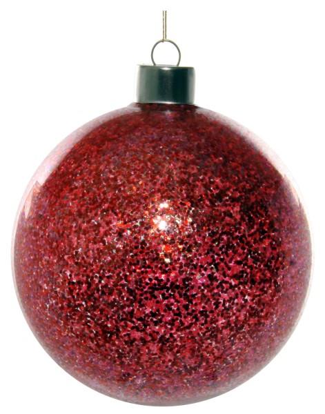 ShiShi GLASKUGEL, rosa Glitter innen 10cm