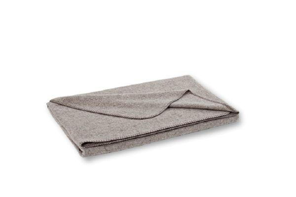Graue WOLLDECKE / Decke aus Wolle von Steiner NORA 150x190cm