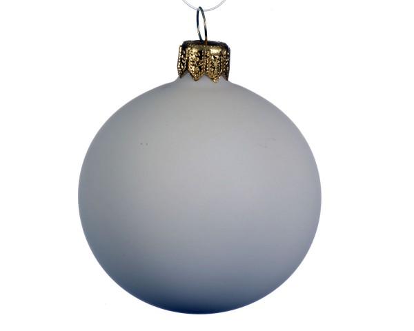 Weihnachten Kae uni Kugel matt 6er-Set, dia7cm Wollweiss