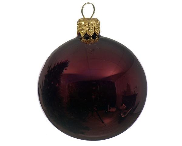 Weihnachten Kae uni Kugel glanz 6er-Set, dia7cm ochsenblut