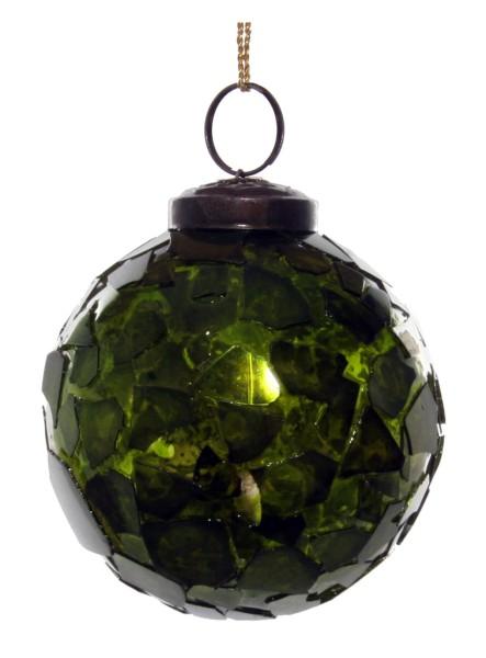 ShiShi GLASKUGEL, grünes Mosaik 7cm
