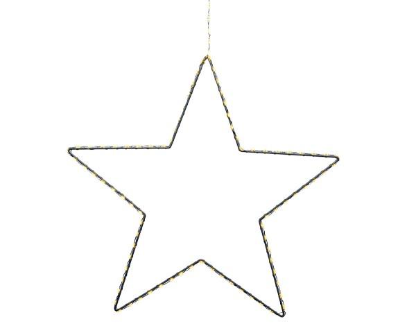 Weihnachten Kae Micro LED Stern dicht au, 38cm-130L weiss/warmes weiss