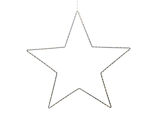 Weihnachten Kae Micro LED Stern dicht au, 58cm-175L weiss/warmes weiss