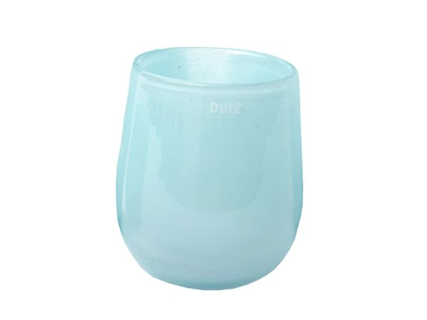 Dutz Vase hell blau BARREL H13,5 Ø10,5cm / pale blue