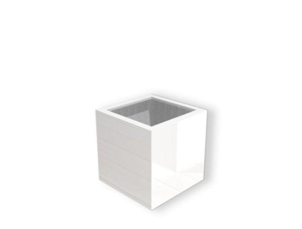 Pflanzgefäß BUXUS weiß hochglanz