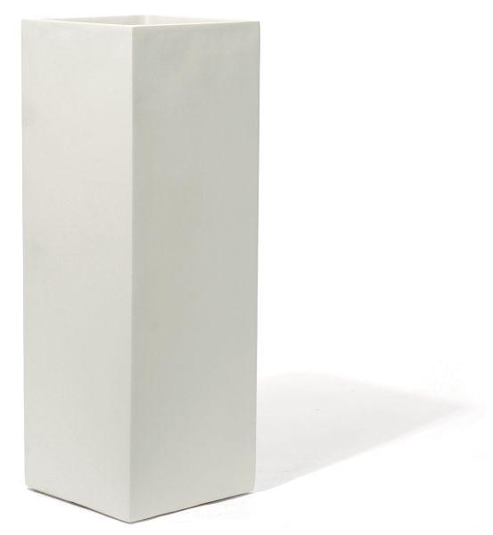 Kirschke Pflanzgefäß KUBO ALTO Fiberglas, white 35x35 H100 cm