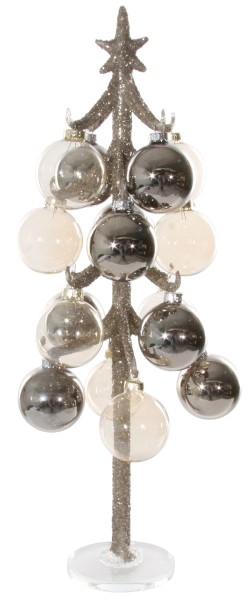Weihnachten Shi GLAS TREE silver glitte