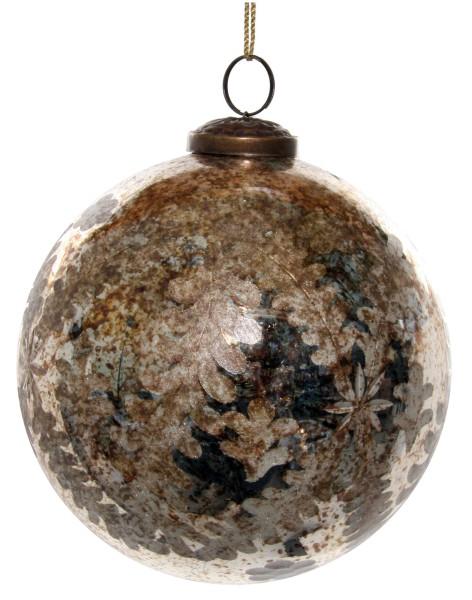 ShiShi GLASKUGEL, antik-goldener Farnschliff 13cm
