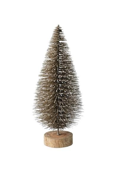 Weihnachten Gift SEOUL Dekobaum Glitzer, gold 13x30x13cm