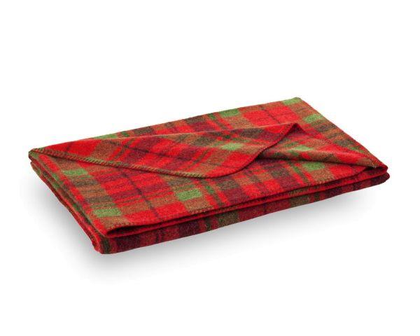 Rote WOLLDECKE / Decke aus Wolle von Steiner MIA 150x190cm