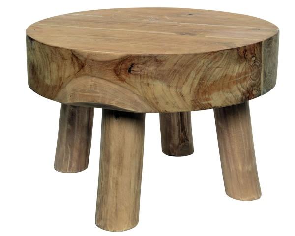 Tisch Kae Teaktisch schwere Platte, dia45x30cm natural