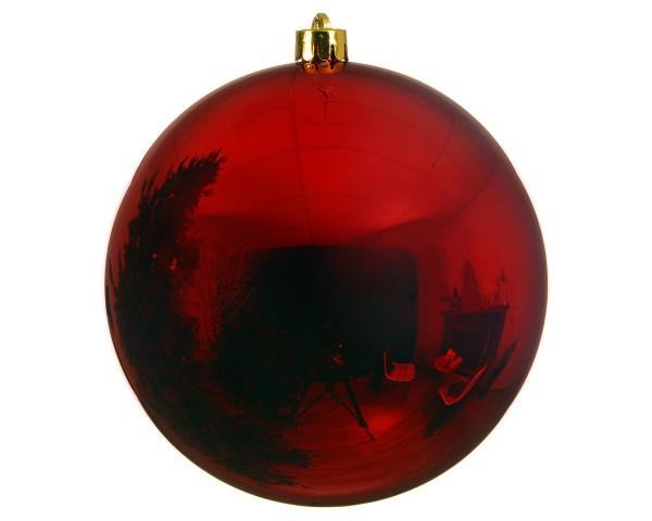 Kaemingk Christbaumkugeln Outdoor / bruchfest weihnachtsrot D25cm