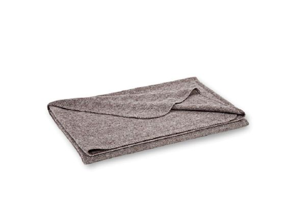 Beige WOLLDECKE / Decke aus Wolle von Steiner NORA 150x190cm