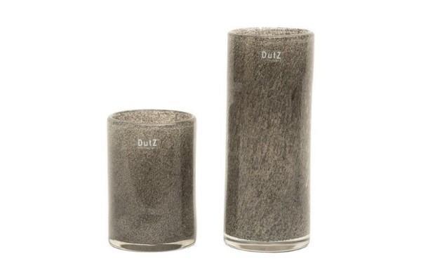 DutZ Vase CYLINDER, new grey bubbles